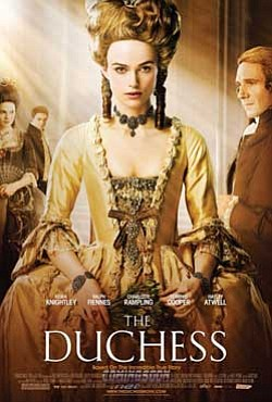 "Promotional graphic for the film ""The Duchess,"" based on ..."