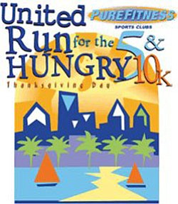 Promotional graphic for United Run for the Hungry 5K and 10K