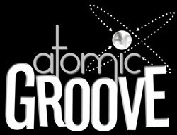 Promotional graphic for Atomic Groove.