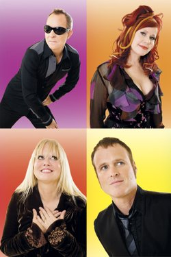 Image of the iconic pop rock band, The B-52s.