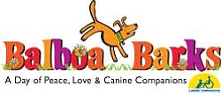Graphic logo for the Balboa Barks event benefiting Canine...