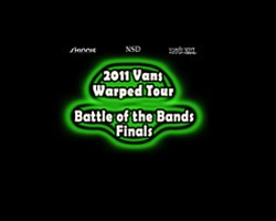 Promotional graphic for the 2011 Vans Warped Tour Battle ...