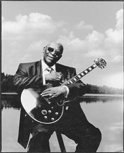 Image of the King of Blues, B.B King.