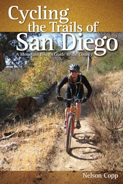 """Graphic cover of """"Cycling the Trails of San Diego: A Mountain Biker's Guide to the County"""" by Nelson Copp."""