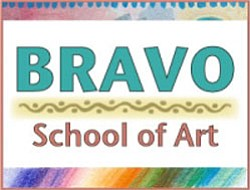 Logo for Bravo School of Art.
