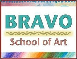 Graphical logo of Bravo School of Art.