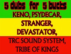 Promotional graphic for the 5 Dubs For 5 Bucks Reggae Showcase on Friday, March 11, 2011 at 4th & B.