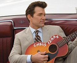 Graphic of Chris Isaak.