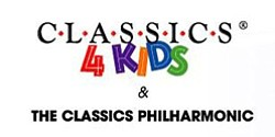 Graphic Logo for Classics 4 Kids & Classics Philharmonic.
