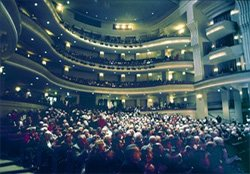 Interior shot of California Center for the Arts - Concert Hall.