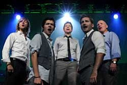 Promotional photo of the men of Celtic Thunder: Keith, George, Damian, Paul and Ryan. Photo courtesy of Celtic Thunder.