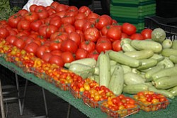 Promotional photo of vegetables from the Carlsbad Village Farmers' Market & Food Fair