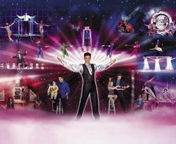 Promotional graphic for Bart Rockett's Amazing World of Magic, Illusion and Comedy.
