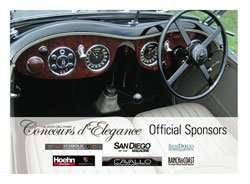 Promtoional graphic for the 2010 Del Mar Concours d'Elegance.