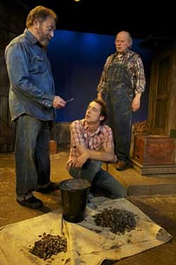 "Frank Corrado, Kevin Koppman-Gue, Paul Hopper in ""The Drawer Boy,"" February 26 - March 20, 2011 at the North Coast Repertory Theatre. Courtesy of North Coast Repertory Theatre"