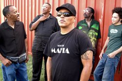 Promotional Graphic of Musical Artist Ivan Neville's Dumpstaphunk.