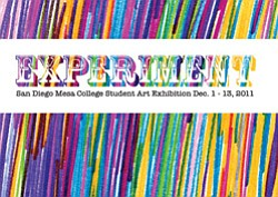 Graphic Logo for San Diego Mesa Student College Art Exhibition.