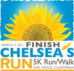 Graphic logo for the Finish Chelsea's Run 5K Run/Walk on ...