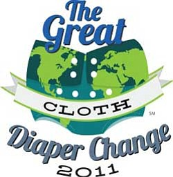 Graphic logo for the Great Diaper Change 2011 event on Saturday, April 23, 2011 at 9 a.m.