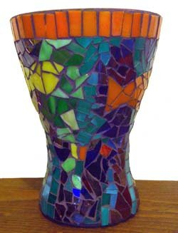 Graphic of Lauren Becker Downey Glass on Glass Mosaic Example.