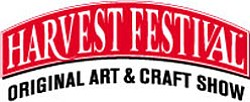 Promotional logo of the Harvest Festival Original Arts & Crafts Show.