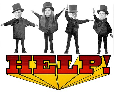 Graphic image for Rockola's production of HELP!