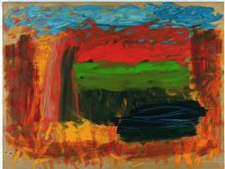 """The painting """"Home, Home on the Range"""" by Howard Hodgkin. Materials: Oil on wood."""