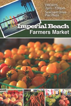 Promotional graphic for the Imperial Beach Certified Farmers' Market.