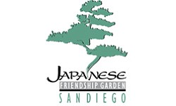 Graphic logo for the Japanese Friendship Garden, located at 2215 Pan American Road. E, San Diego, CA 92101.