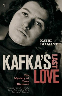 "Graphic cover of ""Kafka's Last Love: The Mystery of Dora Diamant,"" by Kathi Diamant"