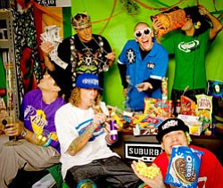 Promotional image of the Kottonmouth Kings.