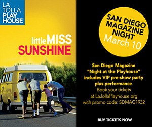Promotional graphic for San Diego Magazines event featuri...