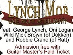 Late Night Guitar Master's After Party Featuring Lynch Mo...