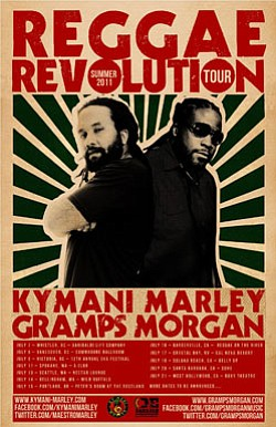 Image of Ky-Mani Marley and Gramps Morgan tour poster.