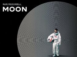 """Promotional graphic for the film """"Moon"""" (2009, UK, 97 min.)"""