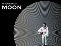 "Promotional graphic for the film ""Moon"" (2009, UK, 97 min.)"