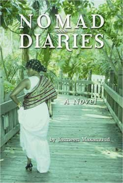 "Graphic cover of ""Nomad Diaries"" by Yasmeen Maxamuud."