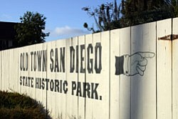 Graphic of Old Town San Diego Historic Park Sign.