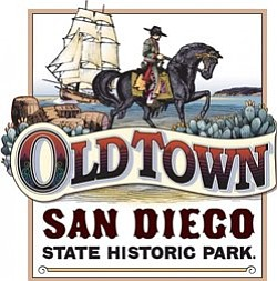 Promotional graphic for Old Town San Diego State Historic Park.