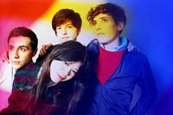Promotional photo of the pop band The Pains of Being Pure at Heart.