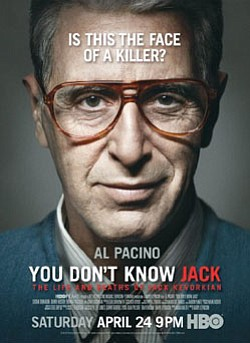 "Promotional Graphic of the movie ""You Don't Know Jack"" Starring Al Pacino."