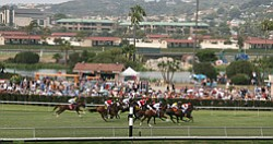 Race day at the Del Mar racetracks.