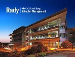 Exterior photo of the Rady School of Management, UC San Diego