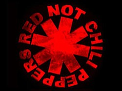 Graphical logo for the Red Not Chili Peppers.