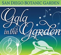Promotional graphic for the San Diego Botanic Garden's 12th Annual Gala In The Garden, Saturday, September 10th, 2011, 5-10 p.m.