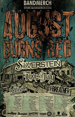 Promotional graphic for August Burns Red & Silverstein tour.