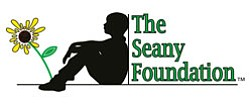 Graphical logo of The Seany Foundation, a San Diego-based foundation created to help in the fight against pediatric cancers, especially sarcomas.