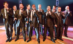 Promotional image of the a cappella band Straight No Chaser.