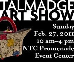 Promotional graphic for the Talmadge Art Show on February...