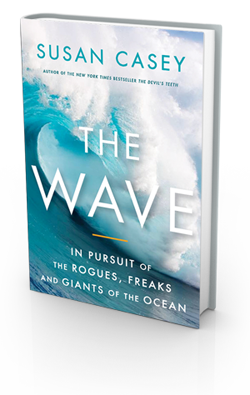 "Book cover for ""The Wave: In Pursuit of the Rogues, Freaks and Giants of the Ocean"" by Susan Casey."